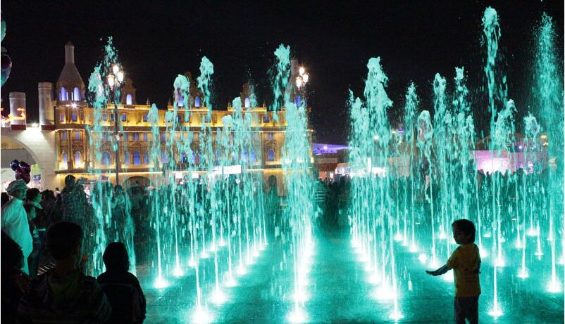 Bright Fountain Lighting