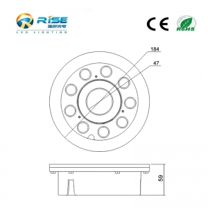 9x3W 27W LED Recessed Fountain Lights