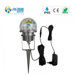 Commercial 6W 3x2W RGB Garden Spike LED Spotlight