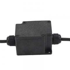 Practical IP68 Waterproof Plastic ABS Black Junction Box for Lighting Project