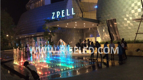 Zpell Plaza fountain project in Bangkok, Thailand