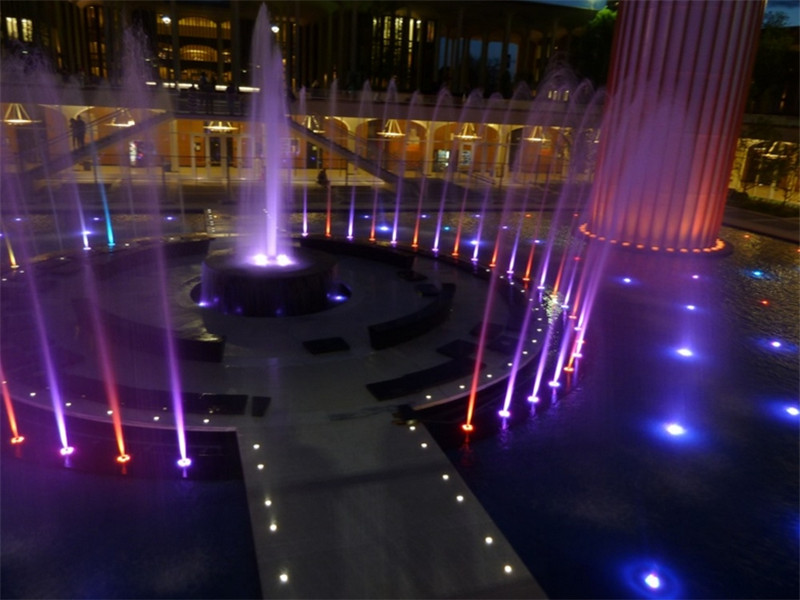 Fountain light project in New York