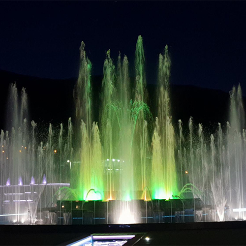 144W High Power 316L SS LED Underwater Fountain Light for 50M height Fountain waterfall